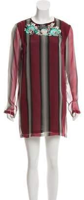 Dries Van Noten Embroidered Silk Dress