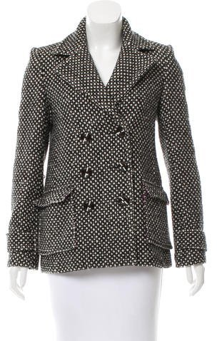 Alice + Olivia Alice + Olivia Double-Breasted Textured Coat