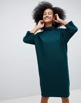 Monki High Neck Knit Midi Dress