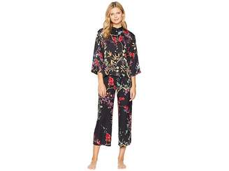 Natori N by Eden Printed Satin PJ Set