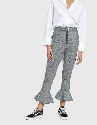 Self-Portrait Self Portrait Frilled Check Trousers