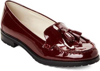 Anne Klein Wine Batilda Patent Loafers