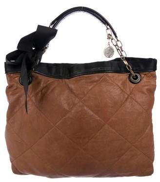 Lanvin Amalia Cabas Quilted Leather Tote