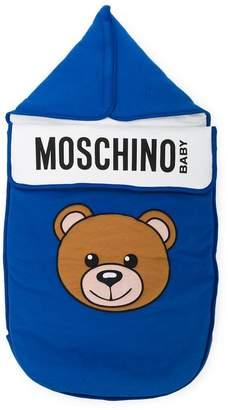 Moschino Kids teddy bear print sleeping bag