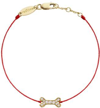 Redline Diamond Bone Red Bracelet - Yellow Gold