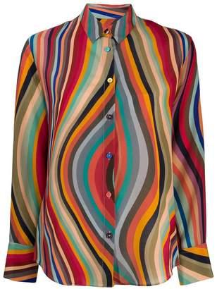 Paul Smith wave pattern shirt