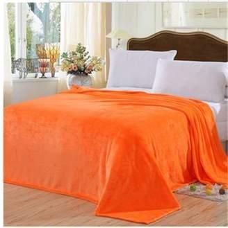 PofsNew Fashion Faux Fur Mink Throws Fleece Blanket For Sofa Bed Luxury Soft Warm,orange,100 x 150CM