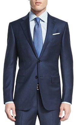 Ermenegildo Zegna Mini-Stripe Two-Piece Wool Suit, Navy $3,095 thestylecure.com