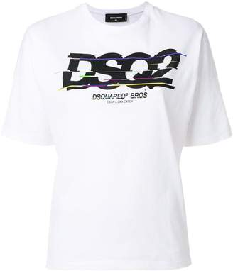 DSQUARED2 spliced logo print T-shirt