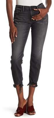 Frame Le Garcon Destroyed Hem Skinny Jeans