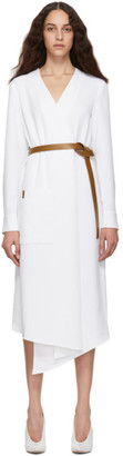 Tibi White Midi Wrap Dress