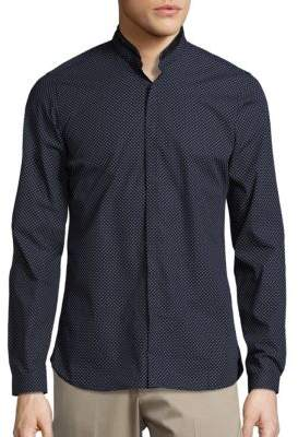 The Kooples Leather Trimmed Sportshirt