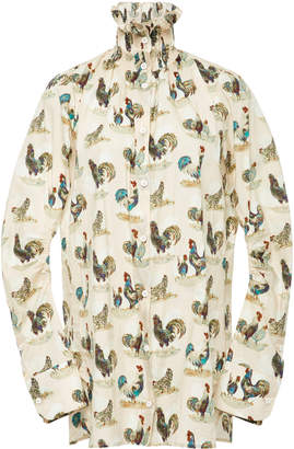 Carven Printed Poplin Shirt