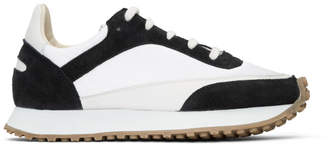 Spalwart White and Black Tempo Low Sneakers