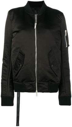 Unravel Project padded bomber jacket