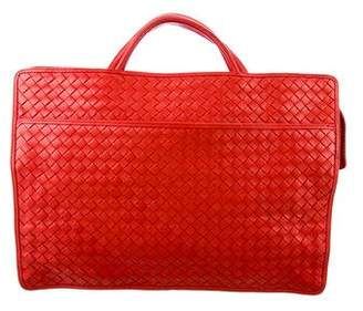 Bottega Veneta Leather Intrecciato Briefcase