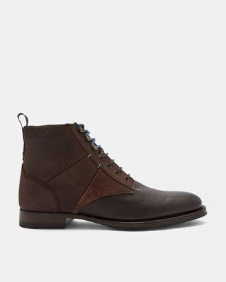 Ted Baker REUBAL Rugged leather lace boots