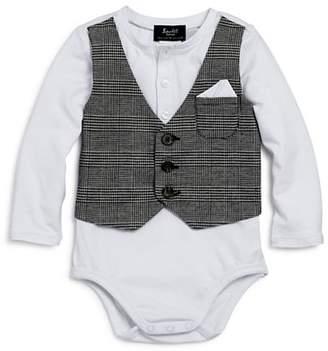 Bardot Junior Boys' Bodysuit with Plaid Vest - Baby