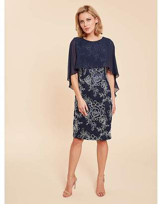 Gina Bacconi Effie Dress With Overcape