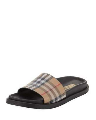 27f70af0136 Burberry English Icons Vintage Check Slide Sandal