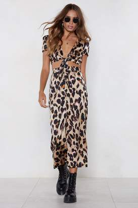 Nasty Gal So Fierce Leopard Crop Top and Skirt Set