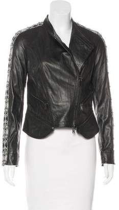 Haute Hippie Embellished Leather Jacket w/ Tags