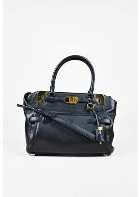 Michael Kors Pre-owned Black Leather Top Handle Satchel Bag. - BLACK - STYLE