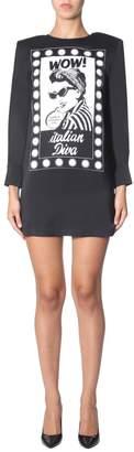 Moschino Graphic Printed Sweater Dress