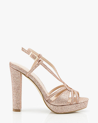Le Château Glitter Strappy Platform Sandal