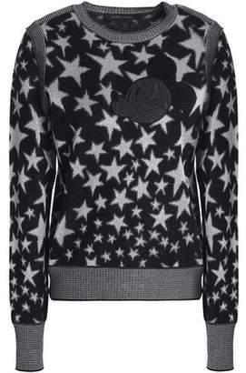 Marc Jacobs (マーク ジェイコブス) - Marc Jacobs Metallic Jacquard-Knit Wool-Blend Sweater
