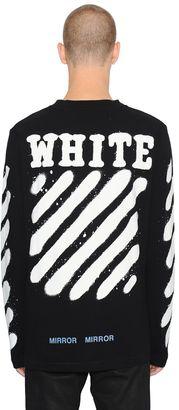 Spray Stripes Long Sleeve Jersey T-Shirt $318 thestylecure.com