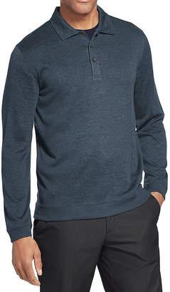Van Heusen Easy Care Long Sleeve Melange Polo Shirt