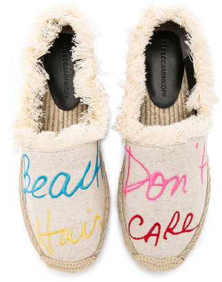 Rebecca Minkoff Baylee Beach Hair Dont Care Espadrille $125 thestylecure.com