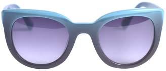 Derek Lam Turquoise Plastic Sunglasses