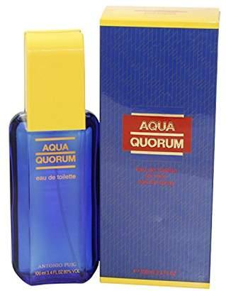 Antonio Puig Aqua Quorum for Men, Eau De Toilette Spray 3.4-Ounce