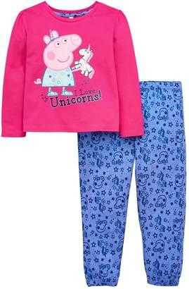 Peppa Pig Unicorn Girls Pyjamas Set