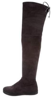 Stuart Weitzman Suede Flatform Boots