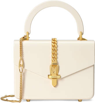 Gucci Sylvie Mini Plexiglas Top Handle Bag