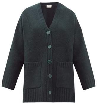Acne Studios Kanita Side Slit Wool Blend Cardigan - Womens - Dark Green