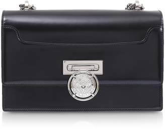 Balmain Black Smooth Leather BBox 25 Flap Shoulder Bag