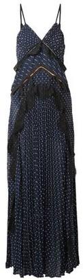 Self-Portrait Self Portrait Bow-embellished Lace-paneled Swiss-dot Maxi Dress
