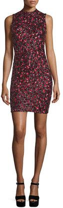 Alice + Olivia Rosalee Embellished Mock-Neck Mini Dress $895 thestylecure.com