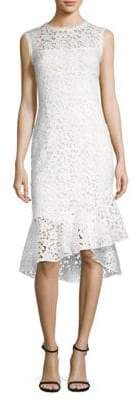 Shoshanna Floral Lace Midi Dress