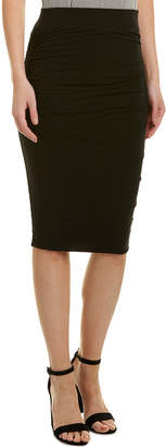 James Perse Double Shirring Pencil Skirt