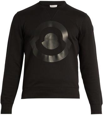 MONCLER Logo-print cotton sweatshirt $445 thestylecure.com