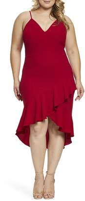 Dress the Population Wendy High/Low Ruffle Cocktail Dress