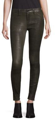 J BRAND Stretch Leather Skinny Pants $998 thestylecure.com
