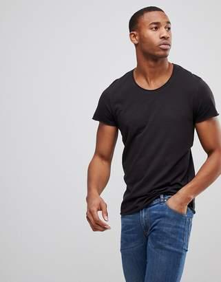 Jack and Jones Originals Longline T-Shirt With Curved Hem
