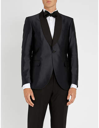 Tiger of Sweden Shantung silk shawl-lapel tuxedo jacket