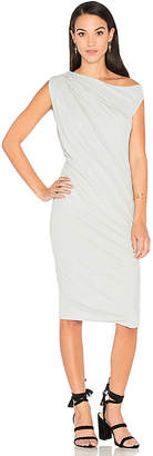James Perse One Shoulder Draped Dress in Gray $245 thestylecure.com